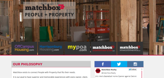 Matchbox Realty Website