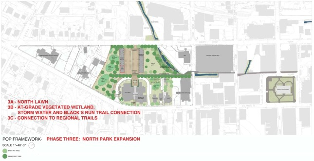 Downtown Harrisonburg Plan Our Park Phase Three Rendering