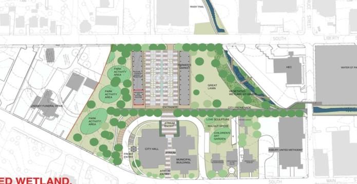 Downtown Harrisonburg Plan Our Park Rendering